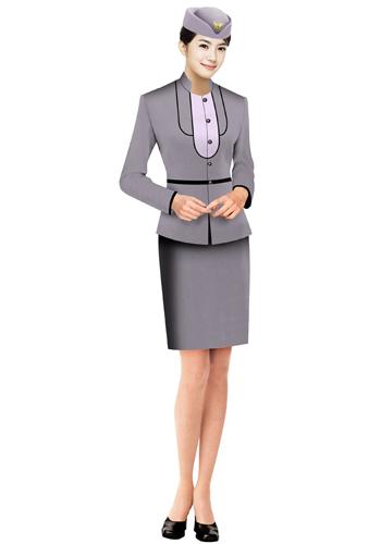 浅紫色销售制服