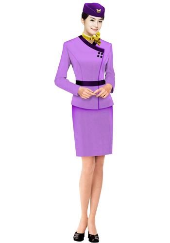 粉色销售制服