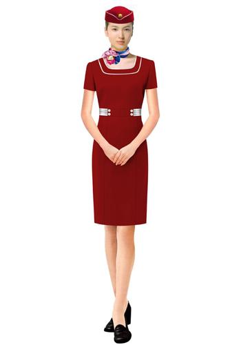 红色销售制服