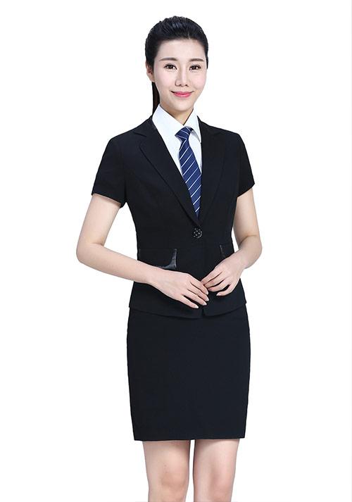 时尚短袖职业套裙