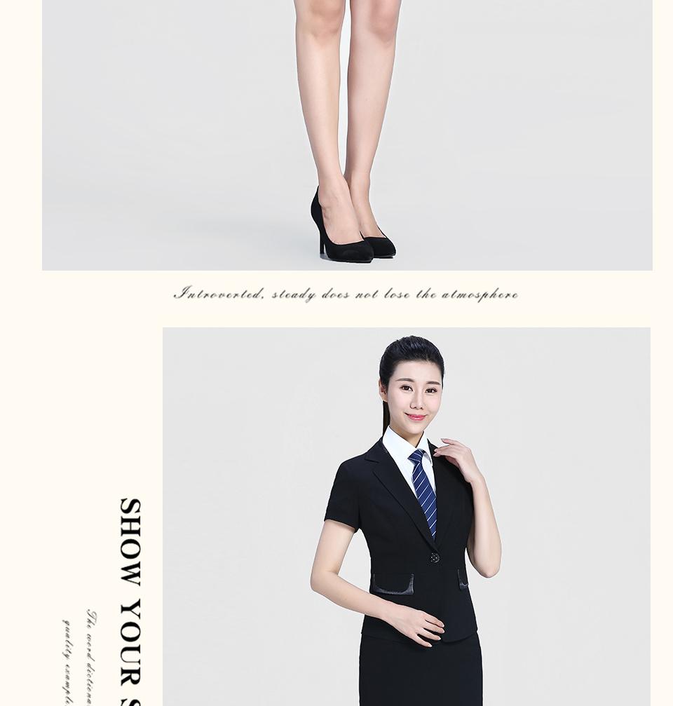 半袖黑色女士套装FX05